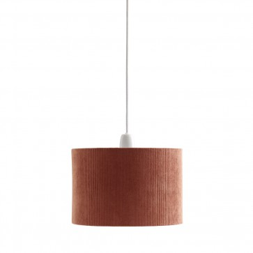 Lamp shade cordoroy rust