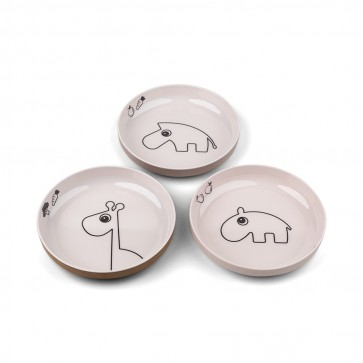 Done by Deer - Yummy mini plate, 3-pack Deer friends Powder