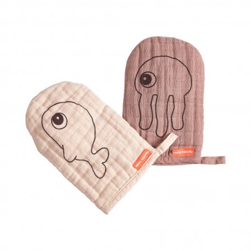 Done by Deer - Wash cloth 2-pack, powder