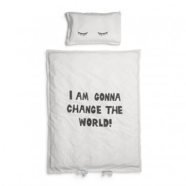 Crib Bedding set - Change The World