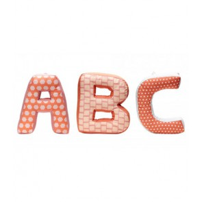 ABC cushions pink multi