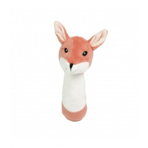 Plush rattle Edvin, fox