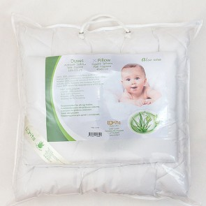Pillow & Duvet set - ALOE VERA - (100cm x 135cm, 40cm x 60cm)