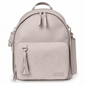Greenwich Simply Chic Diaper Backpack-Portobello Suede