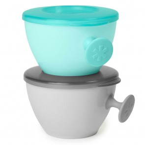 Easy-Grab Bowls-Grey/Soft Teal