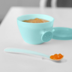Easy-Feed Spoons-Grey/Soft Teal