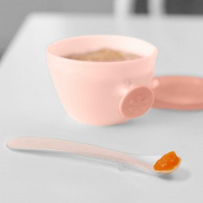 Easy-Feed Spoons-Grey/Soft Coral