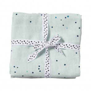 Burp cloth, 2-pack, Dreamy dots, blue