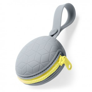 Grab & Go Silicone Pacifier Holder- Grey
