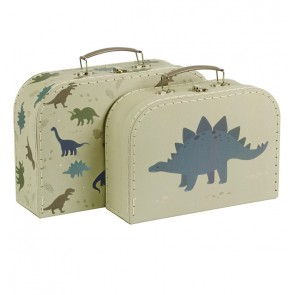 A Little Lovely Company - Suitcase set, Dinozaver