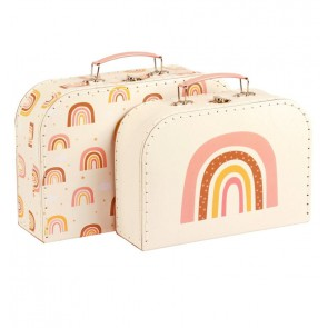 A Little Lovely Company - Suitcase set Rainbows