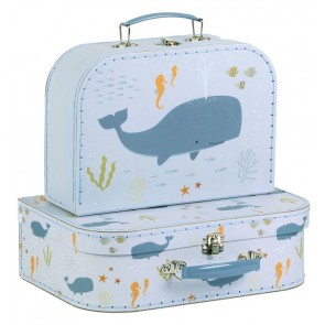 A Little Lovely Company - Suitcase set Ocean