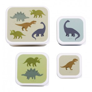 A Little Lovely Company - Lunch & snack box set Dinosaurs