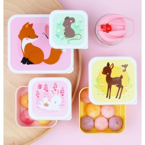 A Little Lovely Company - Lunch & snack box set Forest Friends