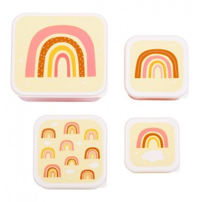 A Little Lovely Company - Lunch & snack box set Rainbows