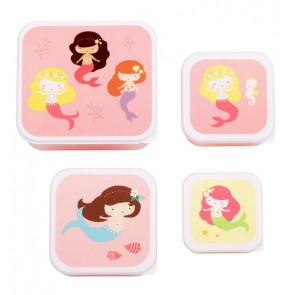 A Little Lovely Company - Lunch & snack box set Mermaids