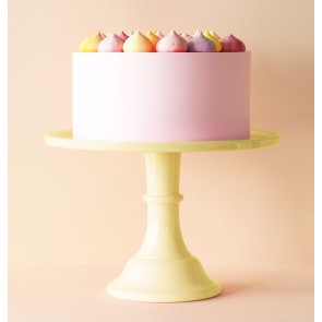 Cake stand: Large - yellow