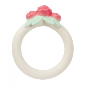 A Little Lovely Company - Teething ring Rose bud