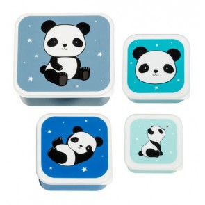A Little Lovely Company - Lunch & snack box set, Panda