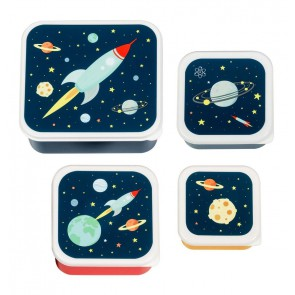 A Little Lovely Company - Lunch & snack box set, Space