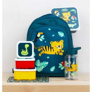 A Little Lovely Company -  Lunch & snack box set - Jungle tiger