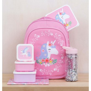 A Little Lovely Company - Lunch & snack box set, Unicorn