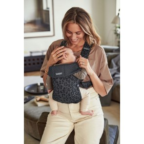 BabyBjörn - Baby Carrier Mini, Anthracite/Leopard, 3D Mesh