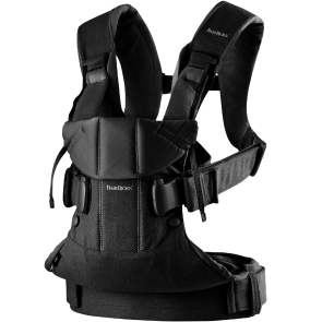 BabyBjörn Baby Carrier- One Black, cotton mix