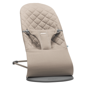 BabyBjörn -  Bouncer Bliss, Sand grey, Cotton