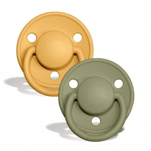 BIBS - Baby pacifier, Honey Bee & Olive Silicone (0-36m)