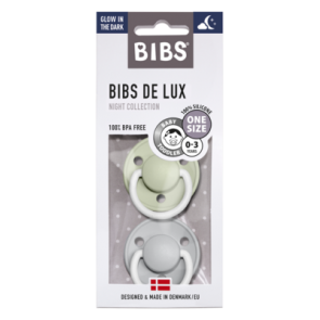 BIBS - Night Baby Pacifer de Lux, Sage & Cloud Night (0-36m)