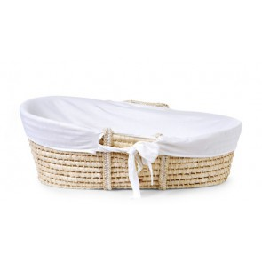 Childhome - Moses Basket + matteres + Jersey Cower, White