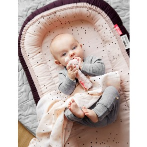 Burp cloth, 2-pack, Dreamy dots, powder
