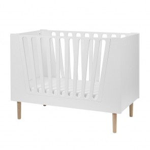 Done by Deer - Baby cot 60 x 120 cm, White