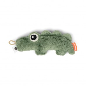 Done by Deer - Tiny sensory rattle Croco Green