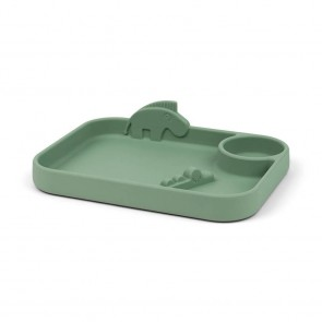 Done by Deer - Compartment plate, Deer friends Green