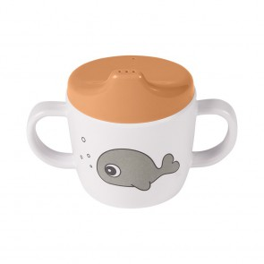 Done by Deer -  2-handle spout cup Sea friends Mustard/Grey