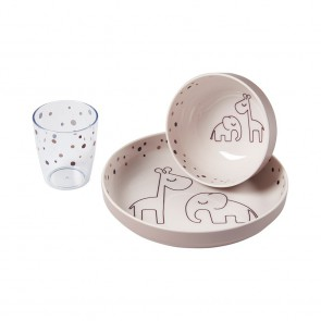 Done by Deer - Yummy mini dinner set, Dreamy dots, powder