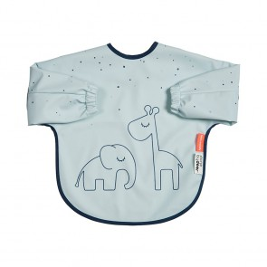 Done by Deer - Sleeved bib 6-18m, Dreamy dots, blue