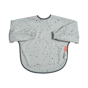 Done by Deer - Sleeved bib, 18m+, Dreamy dots, grey