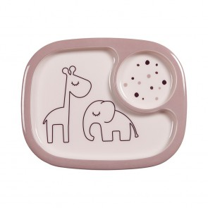 Done by Deer -  Yummy mini compartment plate, Dreamy dots, powder