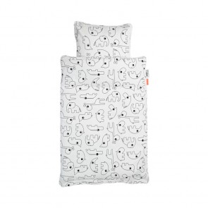 Done by Deer - Bedlinen Contour White