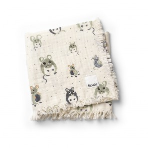 Elodie - Soft Cotton Blanket - Forest Mouse