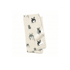 Elodie - Bamboo Muslin Blanket - Forest Mouse