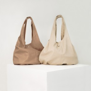 Elodie - Changing bag Draped Tote, Soft Teracotta