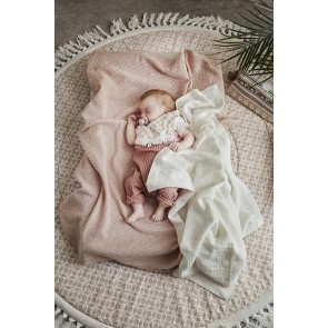 Elodie - Cellular Blanket, Vanilla White