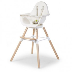 Childhome Evolu 2 high Chair White/Natural