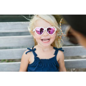 Babiators - Wicked White with Pink Mirrored Lenses (The Sweetheart)