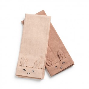 Elodie - Baby Napkins 2pcs - Faded Rose / Burned Clay