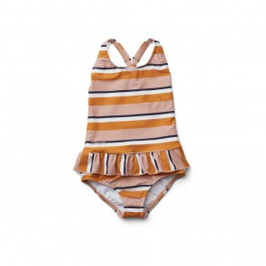 Liewood - Amara swimsuit  Stripe rose/mustard